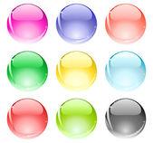 Blanka bollar — Stockvektor