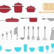 Kitchen utensils — Stock Vector #4237364
