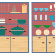 Stock Vector: Kitchen furniture