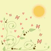 älska bakgrund — Stockvektor