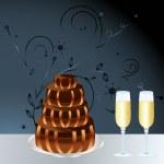 Anniversary cake — Stock Vector #4504866
