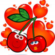 Cherries in love — Stock Vector #4753728