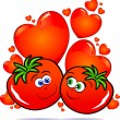 Tomatoes in love — Stock Vector #4753957