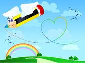 Love pencil — Stock Vector
