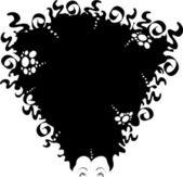 Black Hair — Stock Vector