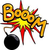 Bomb Boom — Stock Vector