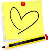 愛はそれを投稿します。 — ストックベクタ