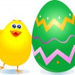 Chick and Easter egg — Stock Vector