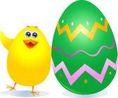鸡和复活节彩蛋 — 图库矢量图片