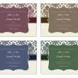 Vector Damask Frame Set with Sample Text — ストック写真