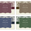 Vector Damask Frame Set with Sample Text — 图库照片