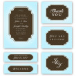 Vector Blue Frame Set — Vector de stock #4499115