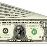 Vector Dollar Bills — Stock Vector
