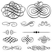 Vector Victorian Ornament Set — Vector de stock