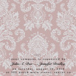 Vector Damask Wedding Frame — Stock Vector #4577427