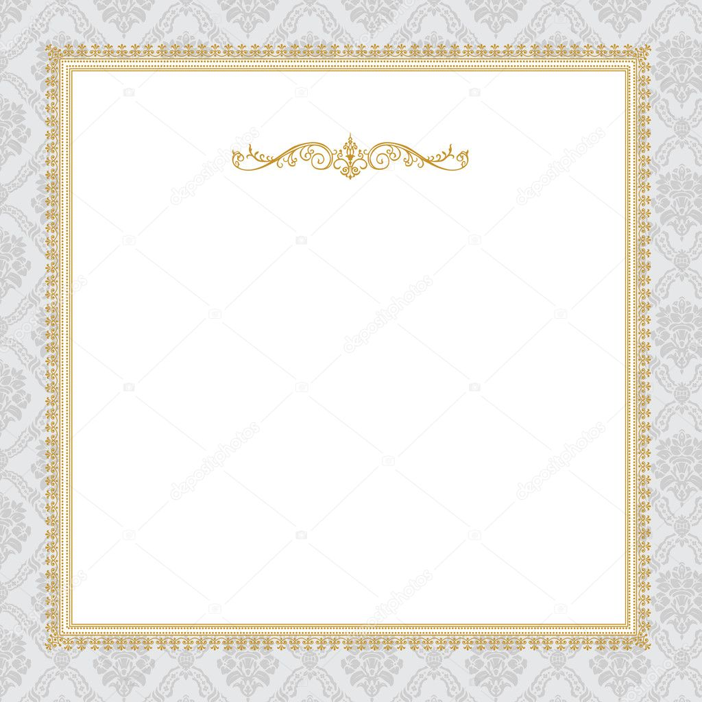 Vector Ornate Complex Gold Frame - Stock IllustrationOrnate Gold Frame Vector