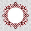 Vector Ornate Round Floral Frame — Stock Vector #4624011