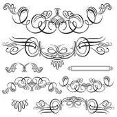 Vector Swirl Ornament Set — Stock Vector