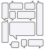Vector Speech Bubble Set — Stock Vector