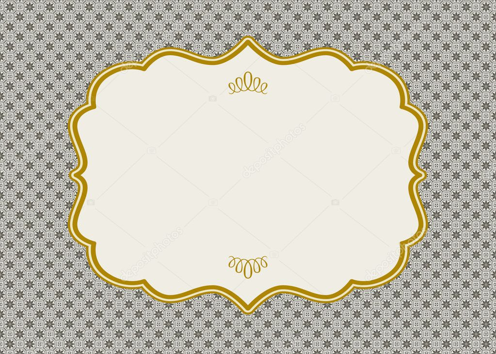 Vector Ornate Gold Frame - Stock IllustrationOrnate Gold Frame Vector