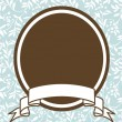 Vector Brown Oval Frame and Pastel Background — Stok Vektör