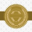 Vector Gold Award Seal and Background — Vettoriali Stock