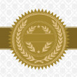 Vector Gold Award Seal and Background — Stock vektor