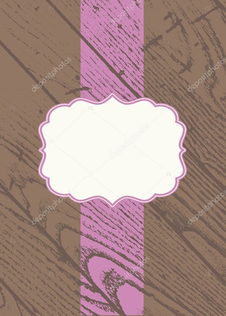 Vector wooden background and frame. Easy to edit. Perfect for invitations or announcements. — Stock Vector #4757028