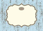 Vector Distressed Background with Ornate Frame — Stock Vector