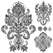 Vector Damask Ornament Set — Stock Vector