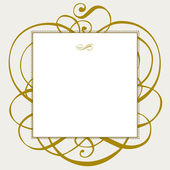 Vector Gold Ornaments and Frame — Stock Vector