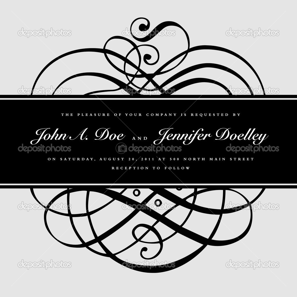 Vector ornate frame. Easy to edit. Perfect for invitations or announcements. — Stock Vector #4774428