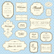 Vector Blue Pattern and Frame Set - Stock Vector
