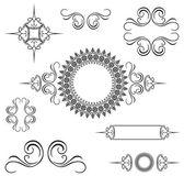 Vector Decorative Swirl Ornament Set — Stock Vector