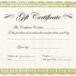 Vector Gift Certificate Frame — Stock Vector #4964408