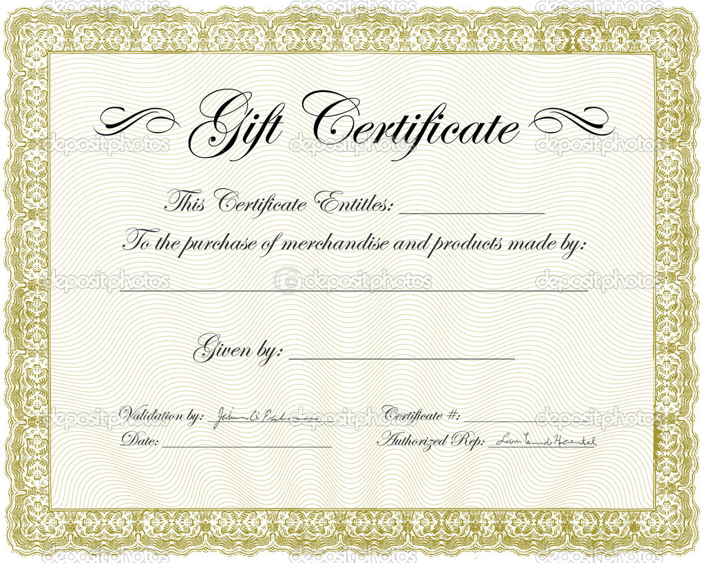 Vector ornate certificate background. Easy to edit. Perfect for certificates, invitations or announcements. Gift Certificate Frame — Stock Vector #4964408