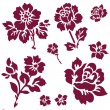 Vector Rose Icon Set — Stockvector #5079651