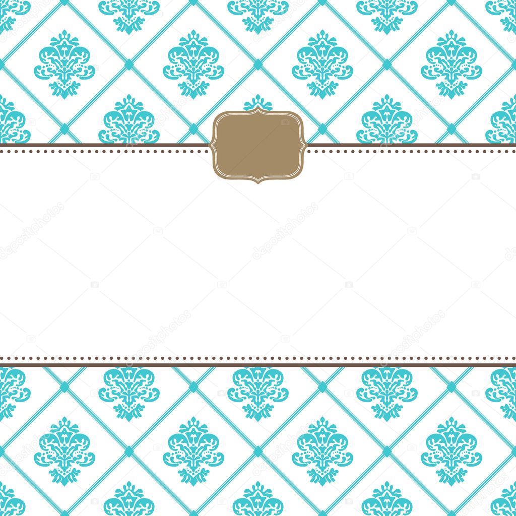 Vector ornate frames and pattern. Easy to edit. Perfect for invitations or announcements.  Stock Vector #5204043
