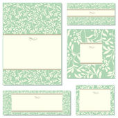 Vector Floral Ivy Frame Set — Stock Vector