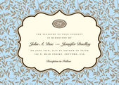 Vector Ornate Frame and Blue Ivy Background — Vetorial Stock