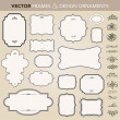 Vector de stock : Vector Ornate Frame and Ornament Set