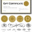 Vector Dark Certificate Frame Set and Ornaments — Stok Vektör #5286799