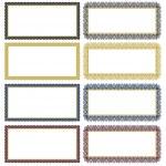 Vector Filigree Frame Set — Stock Vector