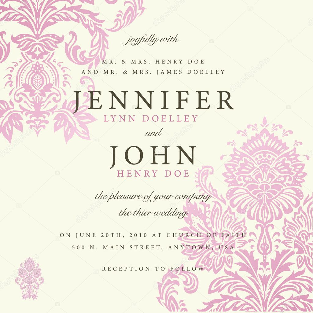 Vector ornate floral background. Easy to edit. Perfect for invitations or announcements. — Imagens vectoriais em stock #5339364