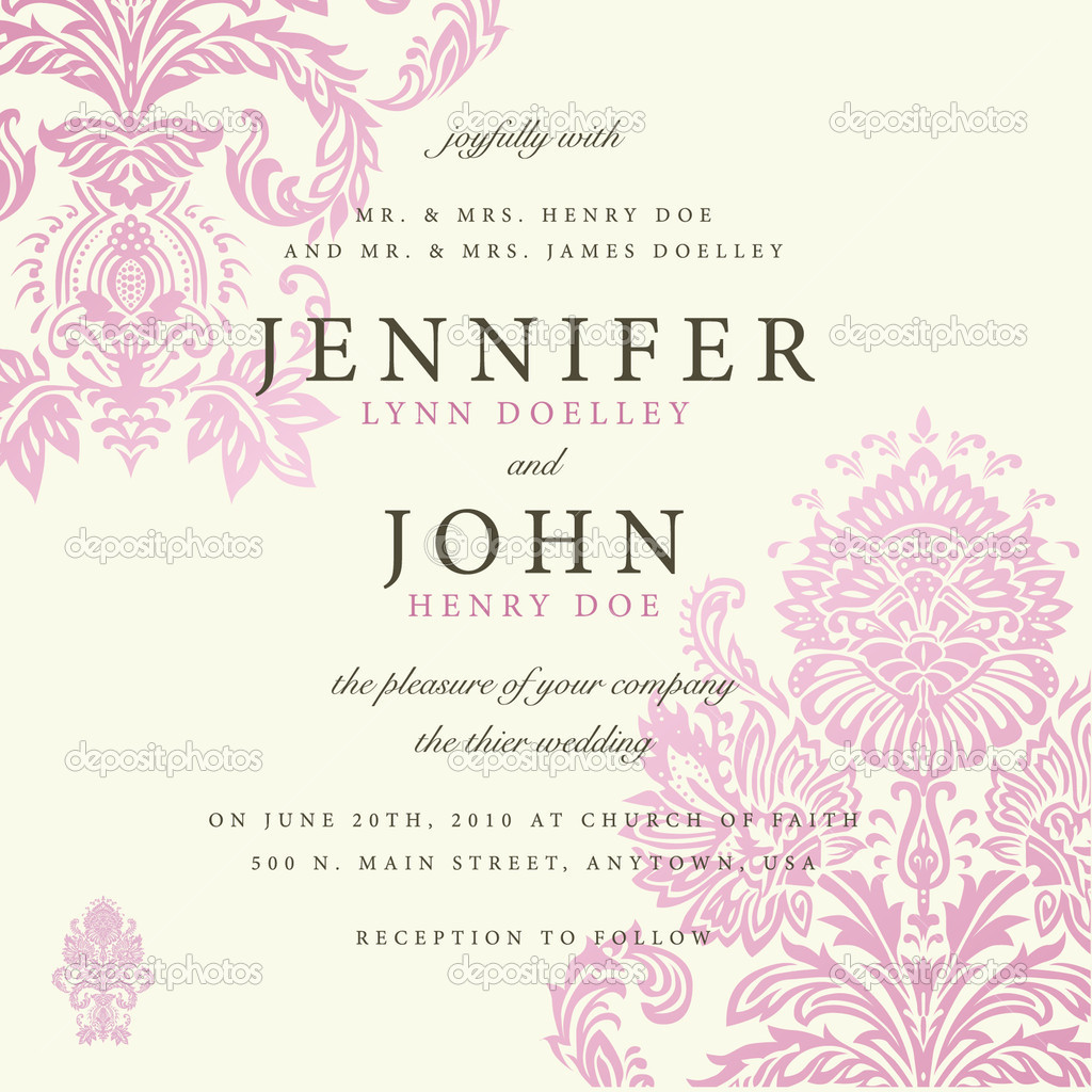 Vector ornate floral background. Easy to edit. Perfect for invitations or announcements.   #5339364