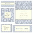 Vector Blue Ornate Frame Set — Vettoriali Stock