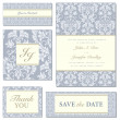 Vector Blue Ornate Frame Set — Stock vektor