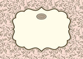 Vector Pastel Ivy Background and Ornate Frame — Stock Vector