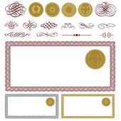 Vector Blank Certificate Set — Stock Vector