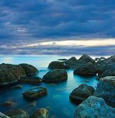 вечерняя сцена на море — Стоковое фото